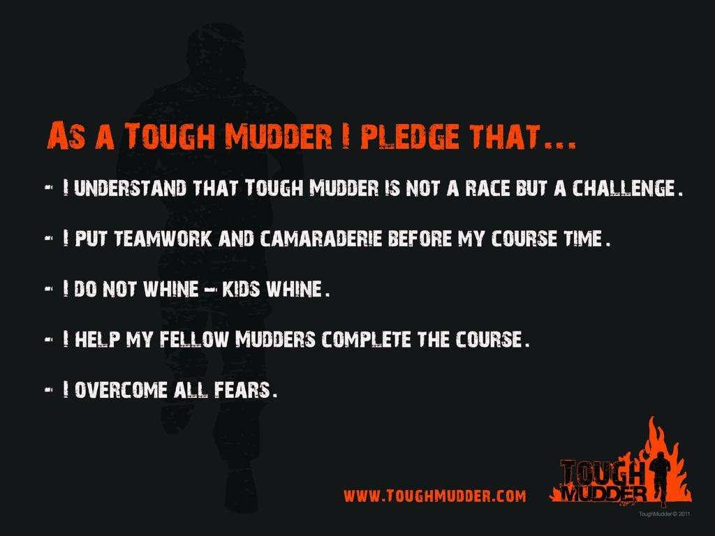 Tough Mudder Pledge