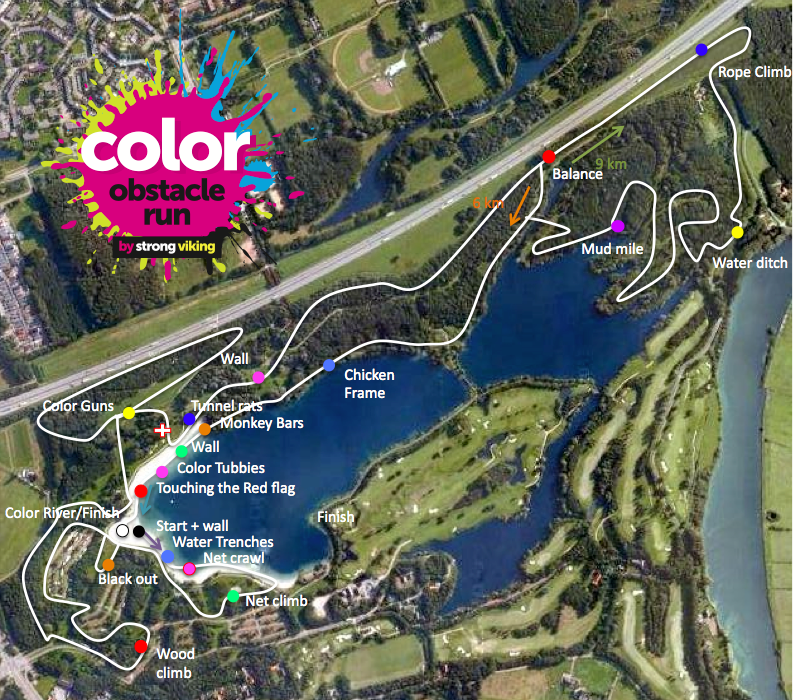 Color Obstacle Run Parcours
