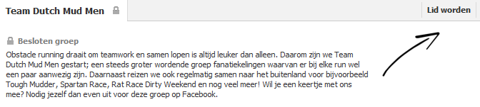 Facebook Team Dutch Mud Men