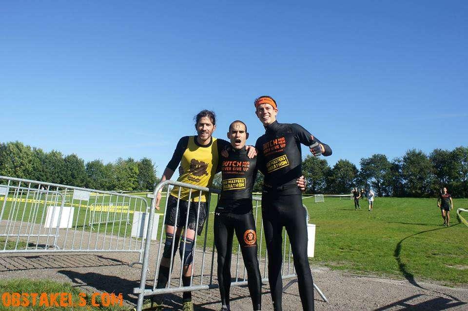 Samen met Haemish tijdens de Mud Masters Marathon.