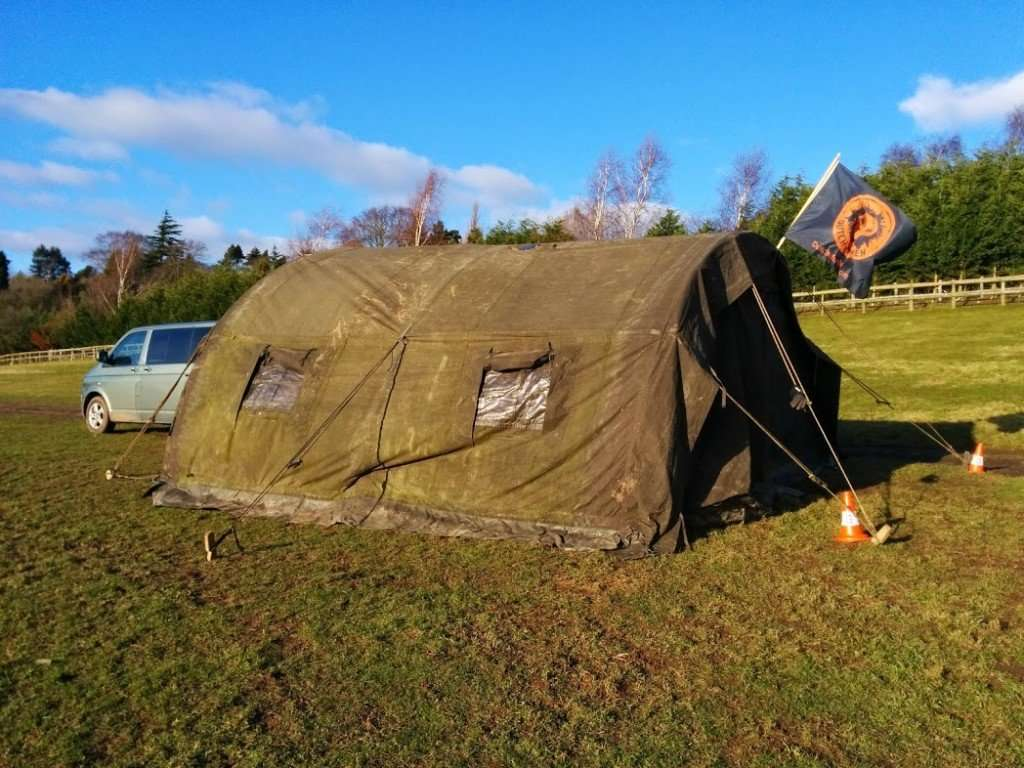 De Team Dutch Mud Men tent