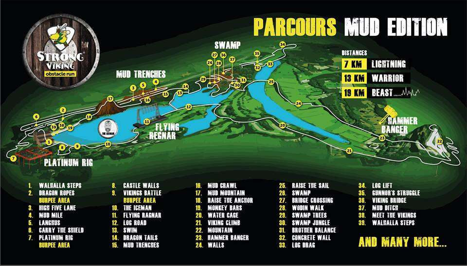 Parcours Strong Viking Mud Edition 2015
