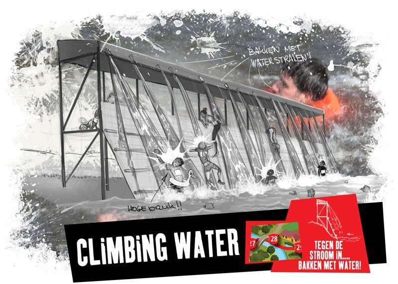 Climbing water